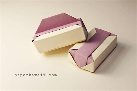 origami paper boxes origami gift box tutorial paper kawaii