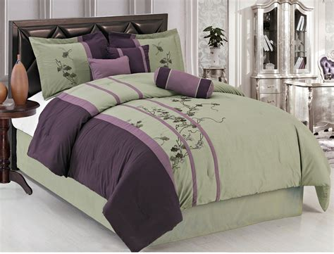 green and purple comforter sets purple and green bedding set with floral pattern plus