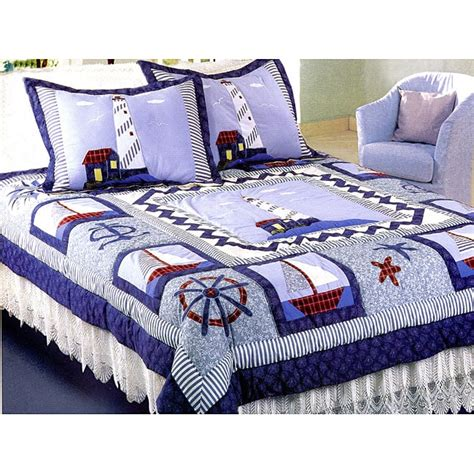 lighthouse comforter sets new lighthouse patchwork quilt set overstock shopping