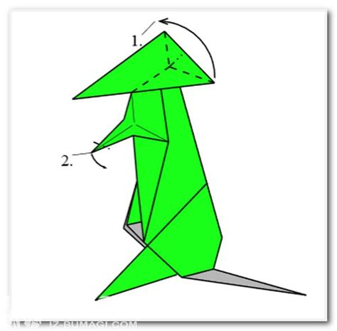 origami kangaroo scheme of origami quot kangaroo quot schemes of origami from paper