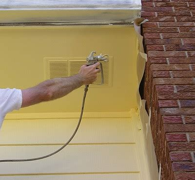 spray painting outside while exterior spray painting the practical house painting guide
