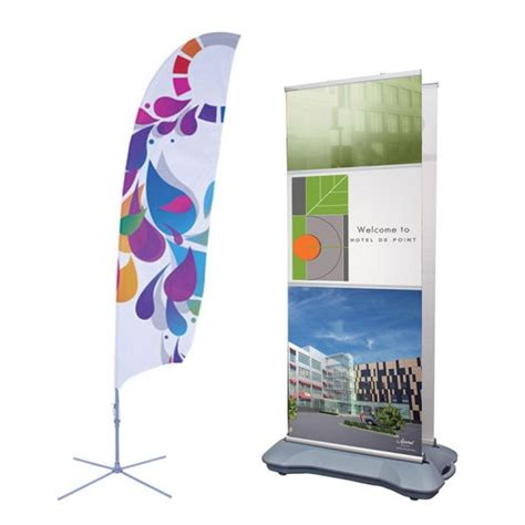 outdoor displays feather flags and outdoor banner stands affordable