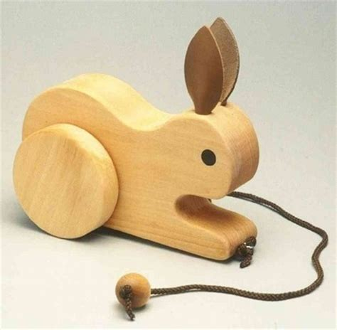 rabbit woodworking toys images bunny pull wallpaper and background photos
