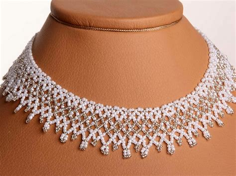 how to make bead jewelry patterns free pattern for beaded wedding necklace dia magic
