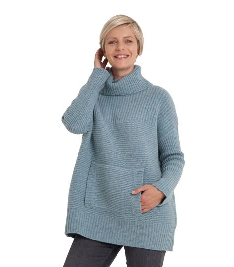knitting sleeves from the top woolovers womens lambswool chunky roll neck textured