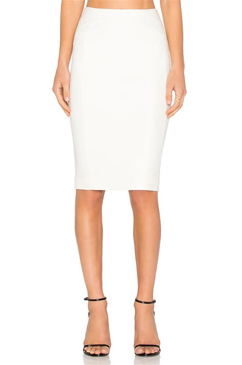white knit pencil skirt blaque label knit pencil skirt in white lyst