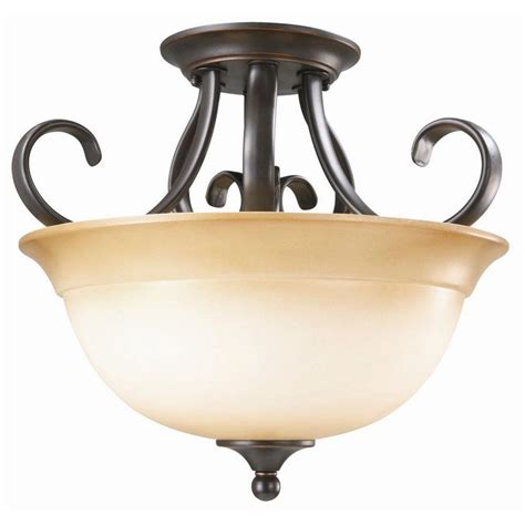 home depot lights exchange design house cameron 2 light rubbed bronze semi flush