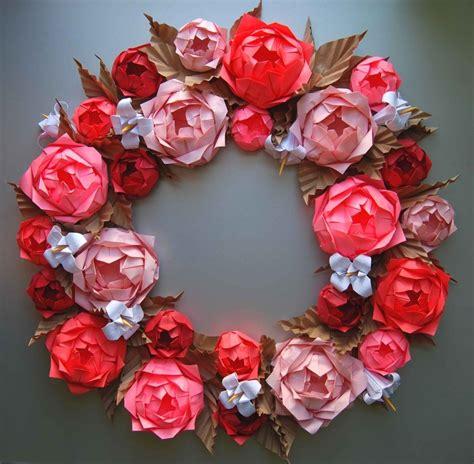 origami wreath origami rosette paper wreath wreath ideas