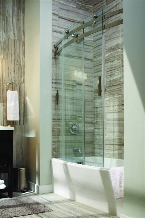 delta glass shower doors delta classic 400 curve 60 in x 62 in frameless sliding