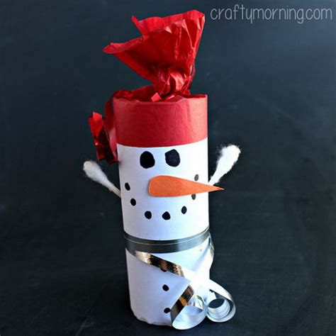 toilet paper roll snowman craft 25 cool snowman crafts for hative