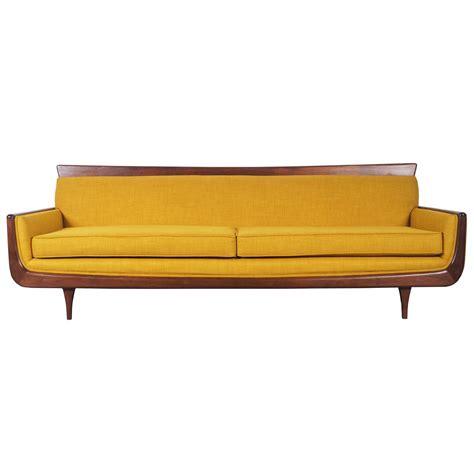mid century modern mid century modern walnut sofa at 1stdibs