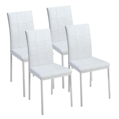 dona lot de 4 chaises de salle 224 manger blanches achat