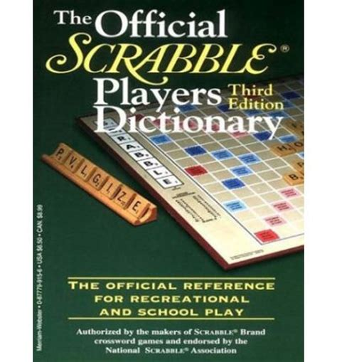 scrabble dictinary the official scrabble players dictionary merriam webster