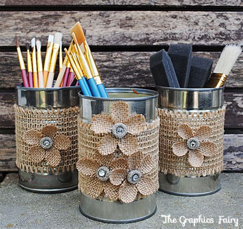 crafts can make recycled crafts make tin can organizers the graphics