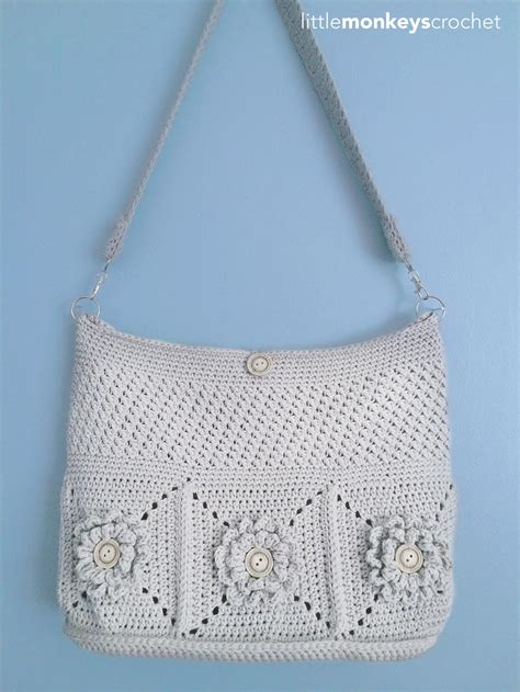 crochet bags with wildflower shoulder crochet bag allfreecrochet