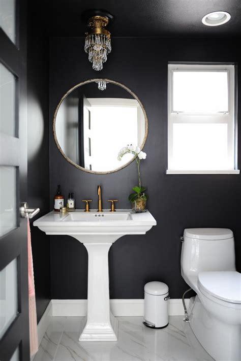 bathroom powder room ideas best 25 black bathrooms ideas on black powder