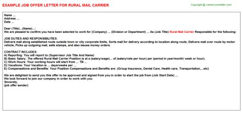 rural mail carrier job title docs
