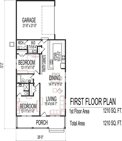 two bedroom two bathroom house plans small low cost economical 2 bedroom 2 bath 1200 sq ft