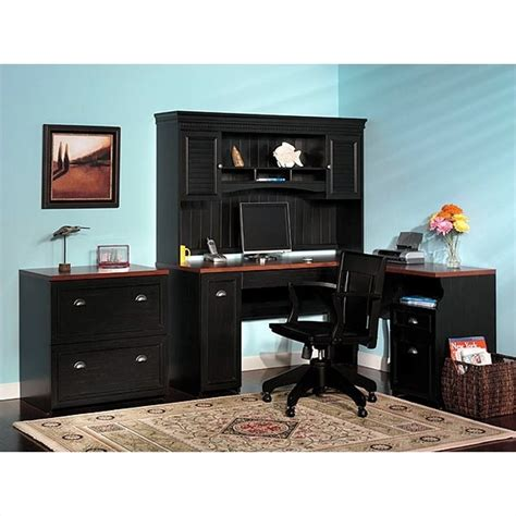 l shaped home office furniture bush furniture fairview l shaped wood home office desk ebay