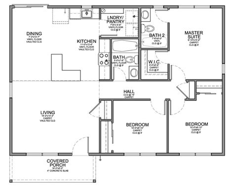 cost of a 4 bedroom house floor plan forsmall house sf with and baths cost to carpet
