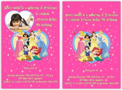 disney princess birthday invitations template best