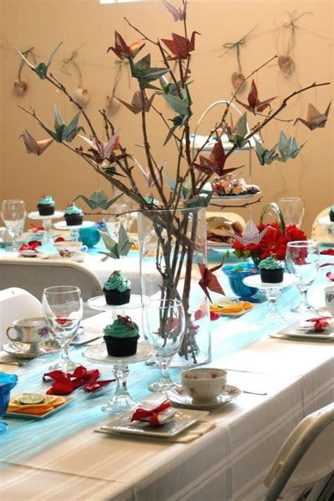 origami centerpiece origami bird branch wedding centerpieces budget brides
