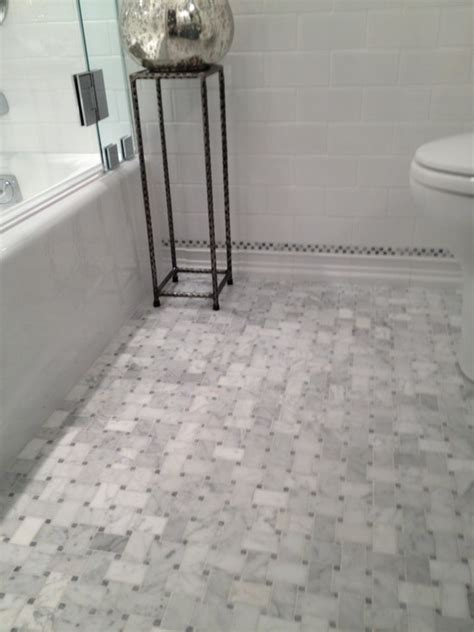 marble basketweave tile traditional bathroom courthouse contractors