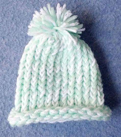 loom knit newborn hat preemie loom knit hat handmade accessories for children