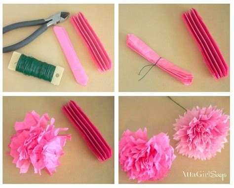how to make from flowers how to make tissue paper flowers atta says