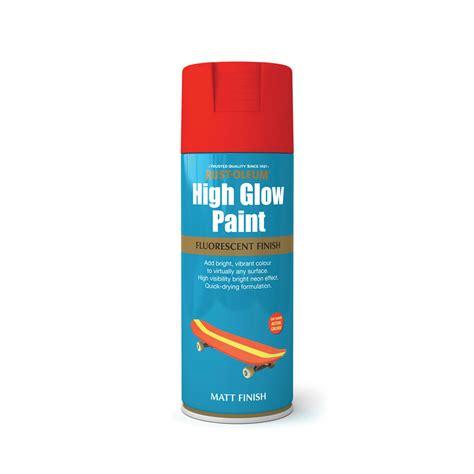 glow in the paint retailers rust oleum high glow paint spray orange 400ml