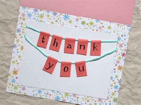 How To Make A Bunting Thank You Card Loulou Downtown