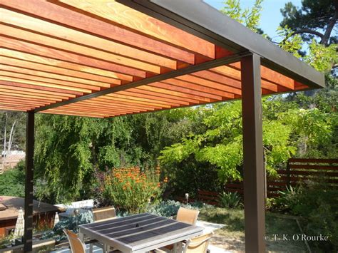 modern steel and wood pergola contemporary patio other metro by tko structures