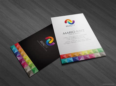 make business cards colorful business card design 8