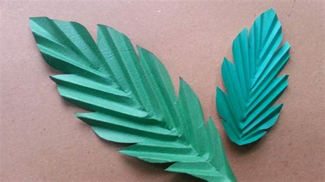 paper leaves craft how to make paper leaves diy crafts tutorial