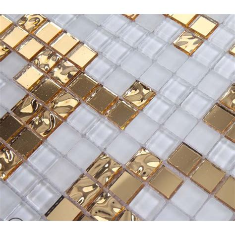 gold glass tile backsplash gold and mirrored glass mosaic tile murals frosted
