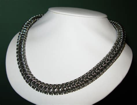 how to make neck chain with roundmaille neck chain by rathwynn on deviantart