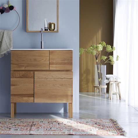 Badezimmermöbel Trier by Tikamoon Easy Oak And Ceramic Vanity Cabinet 80