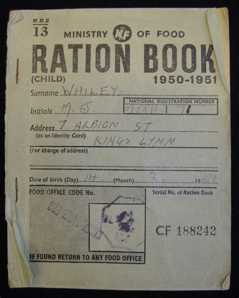 pictures of ration books child s ration book nen gallery