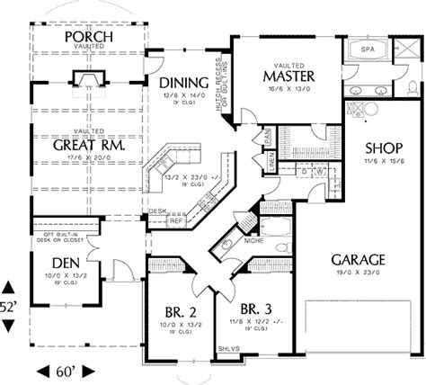 single story house plan single story house floor plans plan w69022am northwest