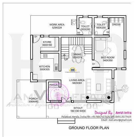 ground floor house plan 178 square yards house elevation and plan kerala home