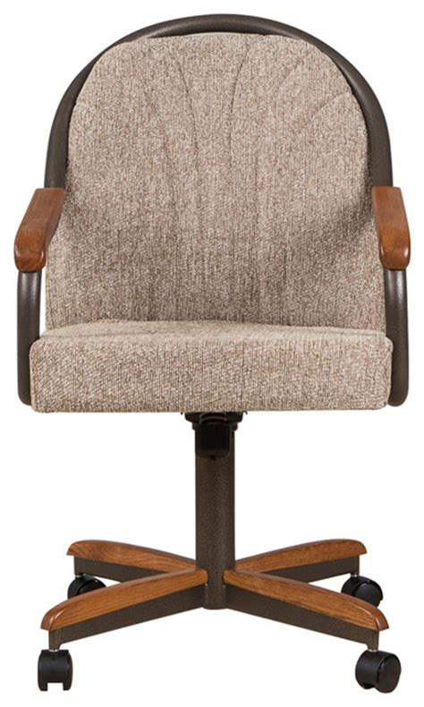 casual dining room chairs casual dining room caster chair transitional