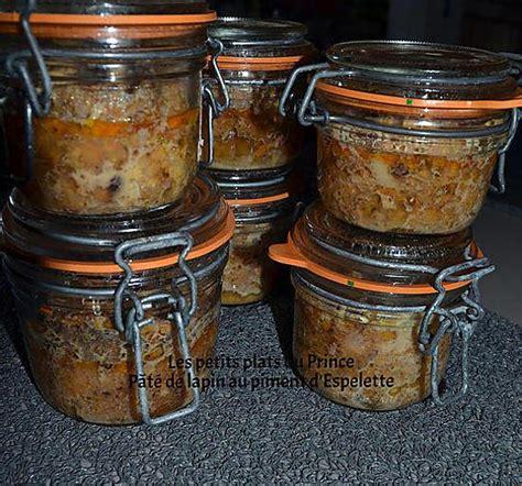 recette de conserve de pate de lapin au piment d espelette
