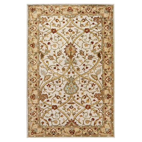 home decorators area rugs home decorators collection anatole ivory beige 8 ft
