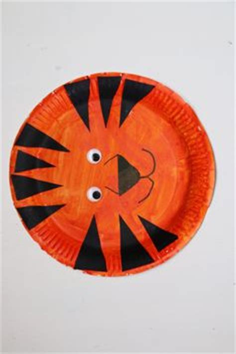 tiger paper plate craft paper plate wolf craft for open house