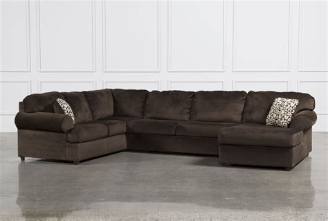 3 sectional sofa jessa place chocolate 3 sectional w raf chaise