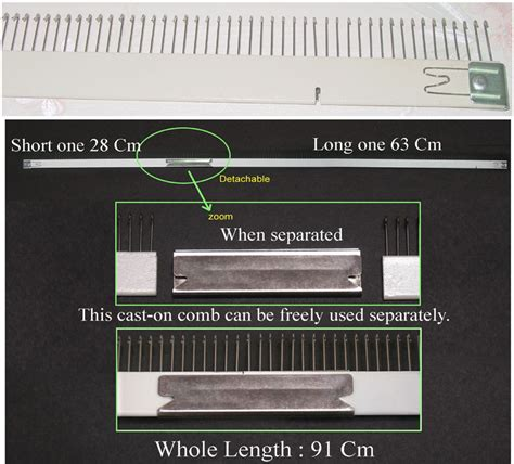 how to cast on a knitting machine cast on comb 4 5mm knitting machine kh830 kh860