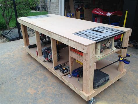 build woodworking bench building your own wooden workbench woodworking and