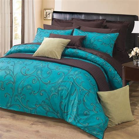 teal and brown bedding sets turquoise brown bedding and on
