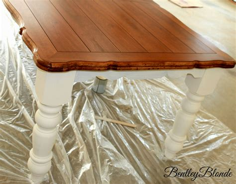 diy chalk paint dining table bentleyblonde diy farmhouse table dining set makeover