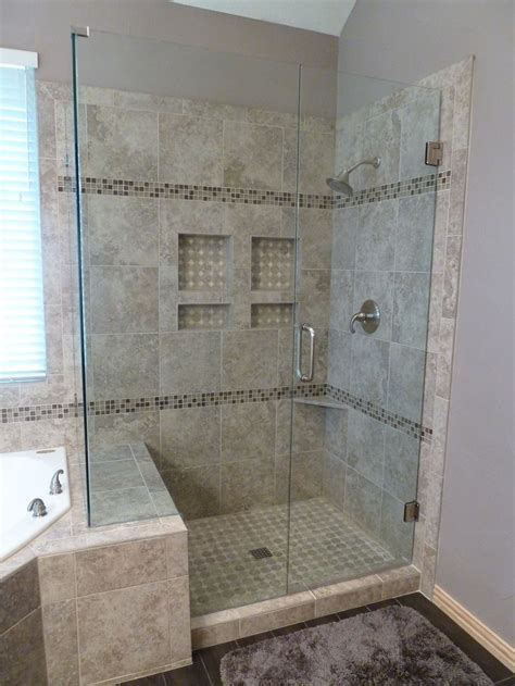 bathroom tub to shower remodel this look a the gained space by going to the